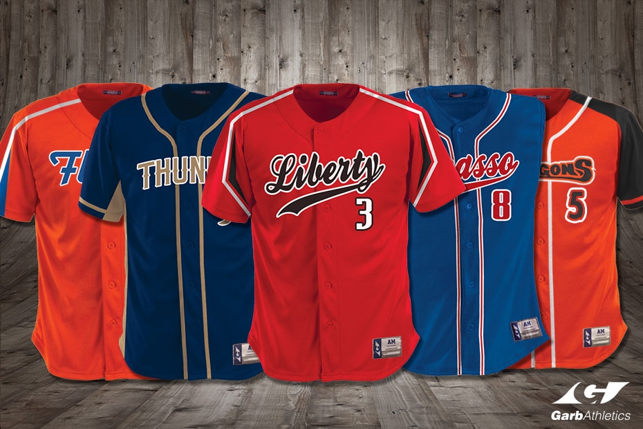 Baseball Uniforms  - just a few out of the hundreds of styles available
